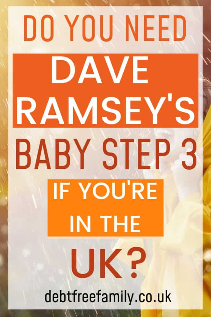 Dave ramsey baby step 3, Dave ramsey UK baby step 3, debt budget planner,