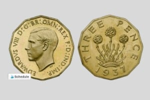 Edward VIII Brass threepence 1937