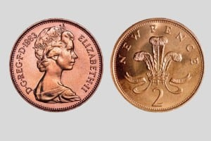 Queen Elizabeth II 2p coin 1983