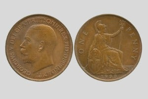 George V penny 1933