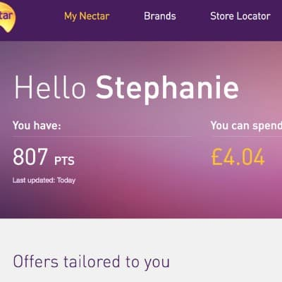 how much are my nectar points worth