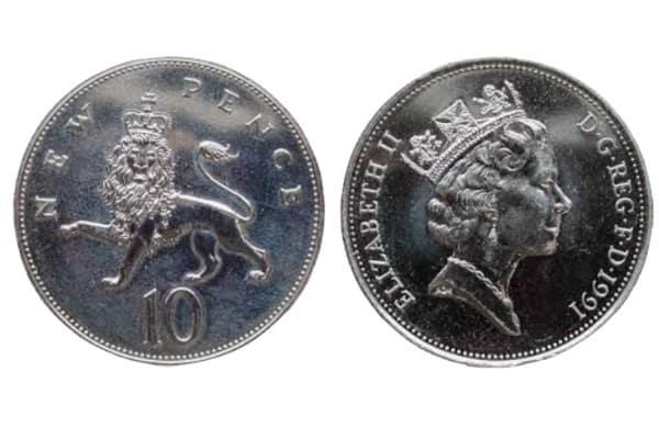 1992 10p coins