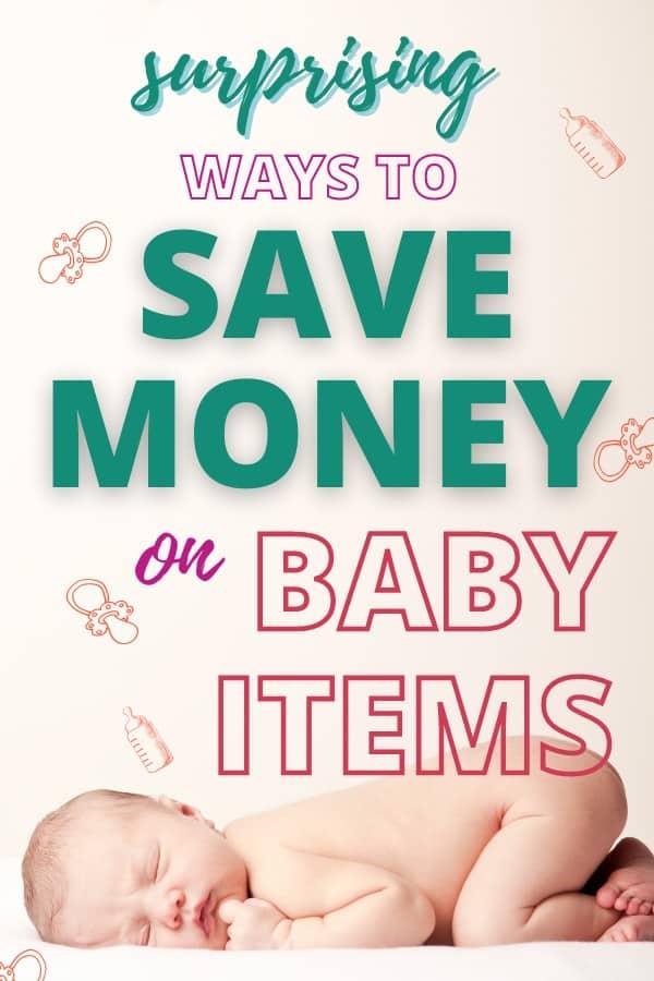 saving money on baby items